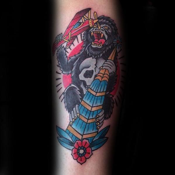 King Kong Mens Tattoo Designs