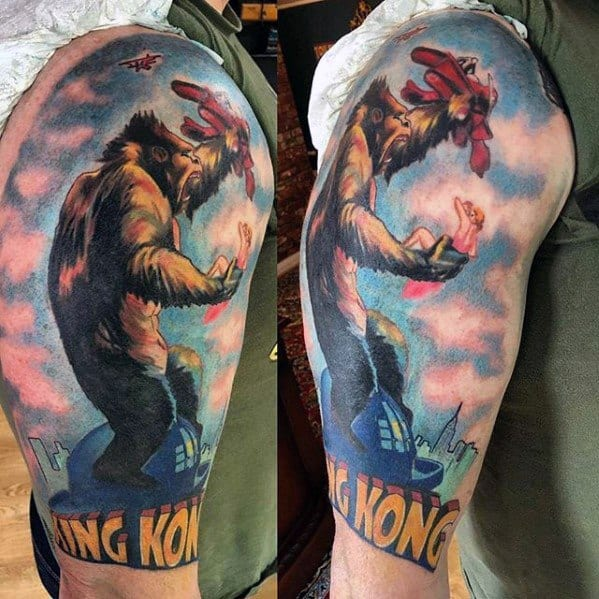 King Kong Tattoo Ideas For Males