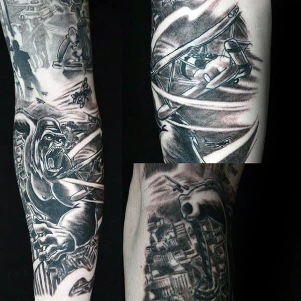 King Kong Tattoos Male