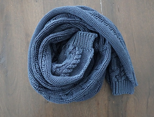 Kinross Cashmere Chunky Cotton Cable Scarf For Men