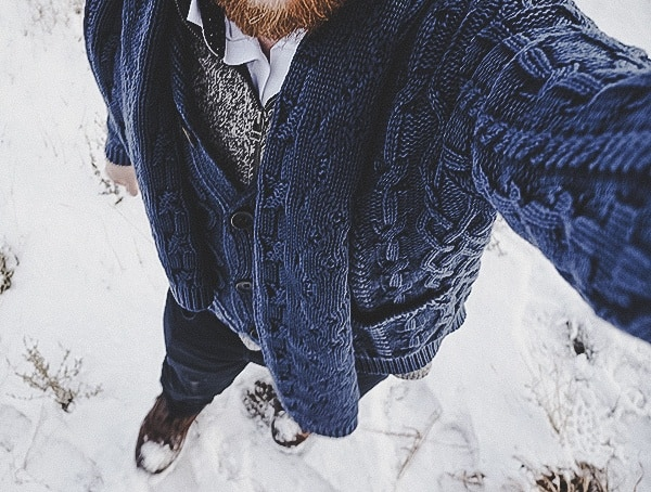 Kinross Cashmere Mens Cable Shawl Cardi Review