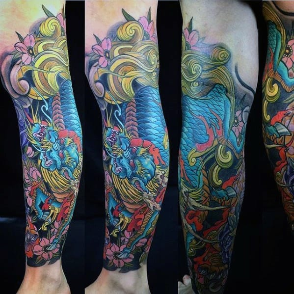 Kirin Mens Tattoo Designs