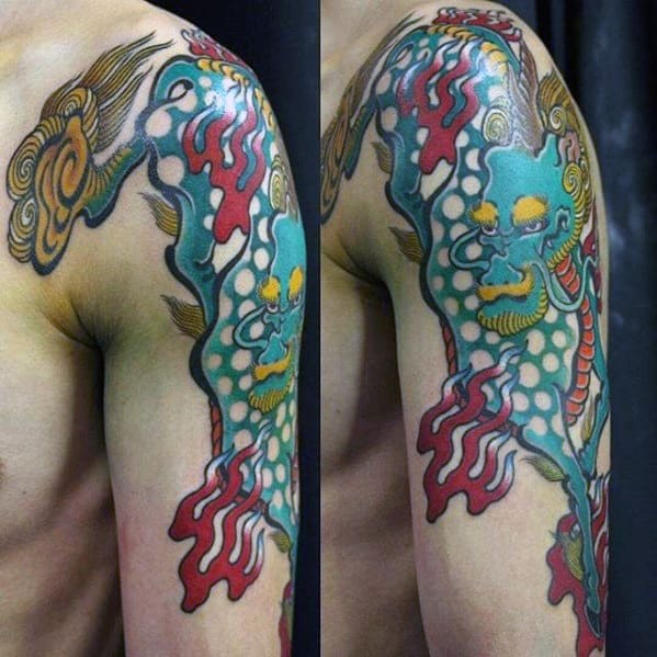 Kirin Tattoo Design On Man