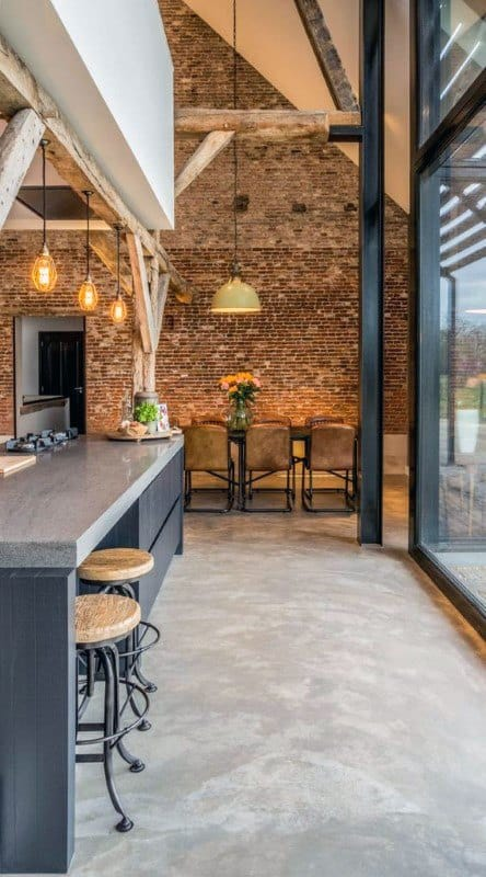 Kitchen Bar Industrial Interior Design