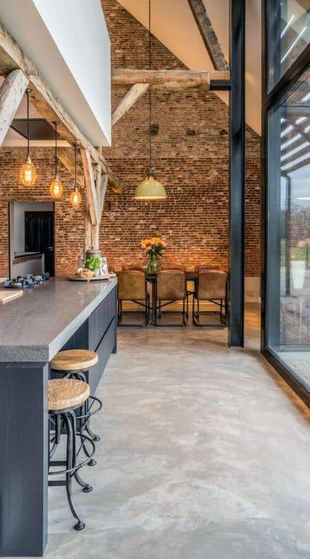 Kitchen Bar Industrial Interior Design