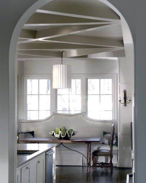 Kitchen Breakfast Nook Interior Designs Coffered Ceilings