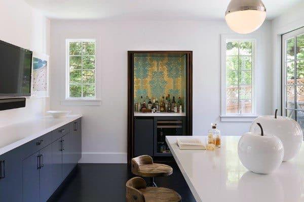 Kitchen Built In Small Mini Bar Ideas