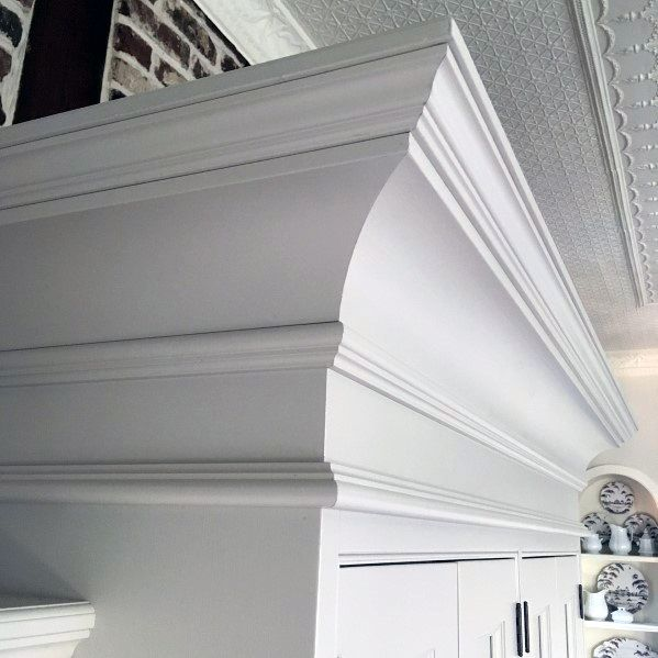 Kitchen Cabinet Painted White Home Design Ideas Crown Molding