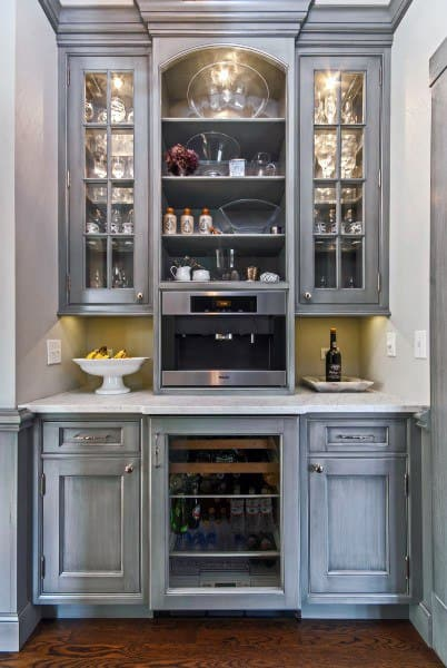 Awesome Kitchen Coffee Bar Ideas With Bar For Kitchen Area.