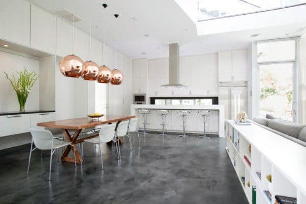 Kitchen Concrete Floor Idea Inspiration