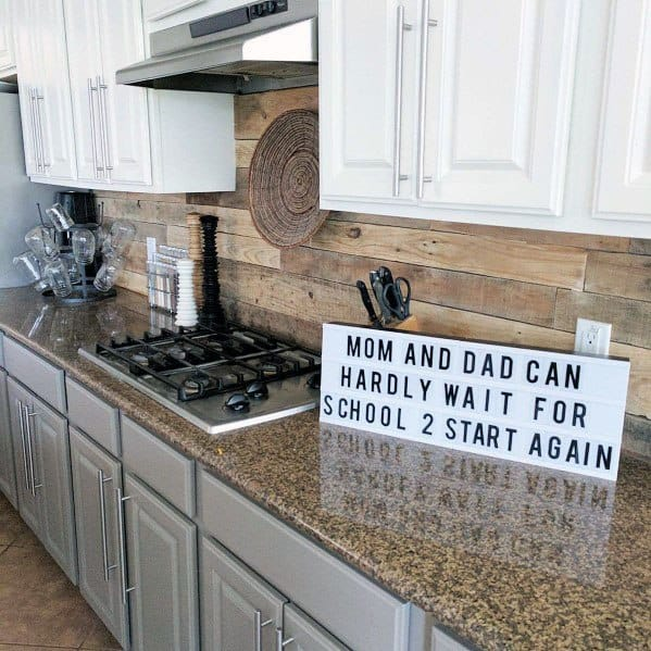 Kitchen Designs For Wood Backsplash
