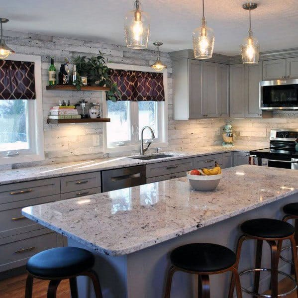 Kitchen Designs Wood Backsplash