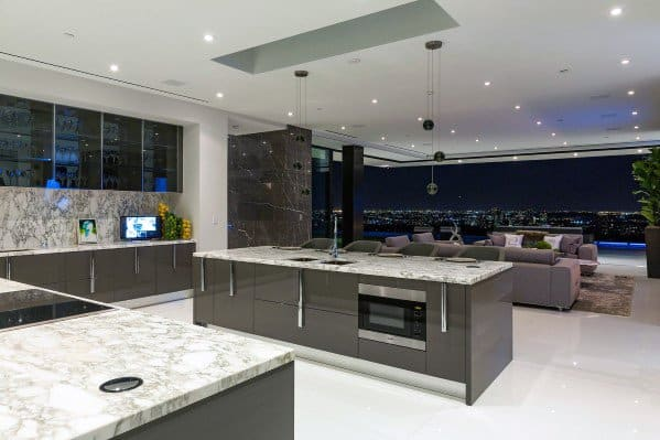 Kitchen Floor Design Ideas Marble Large Format Tile