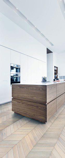 Kitchen Flooring Ideas Herringbone Pattern Hardwood