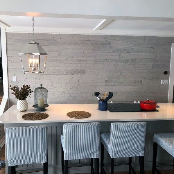25 White And Wood Kitchen Ideas: Top 70 Best Wood Wall Ideas