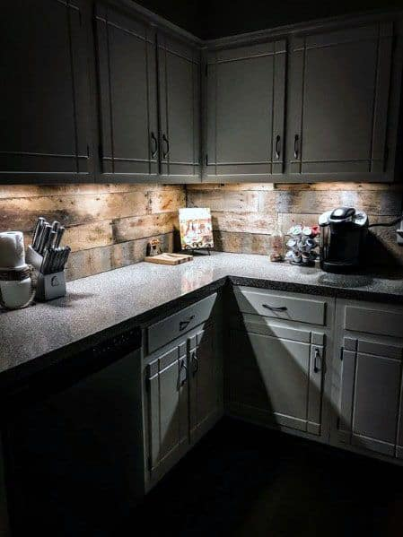50 Best Kitchen Backsplash Ideas For 2017: Top 60 Best Wood Backsplash Ideas