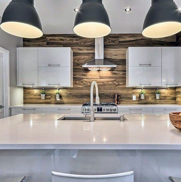 Top 60 Best Wood Backsplash Ideas Wooden Kitchen Wall Designs