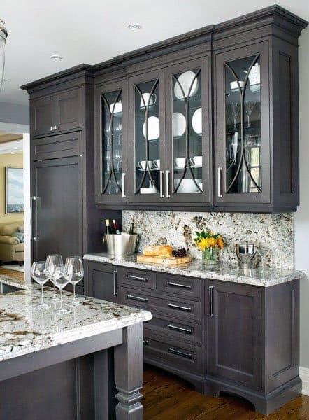 Kitchen Ideas Dark Wood Cabinets