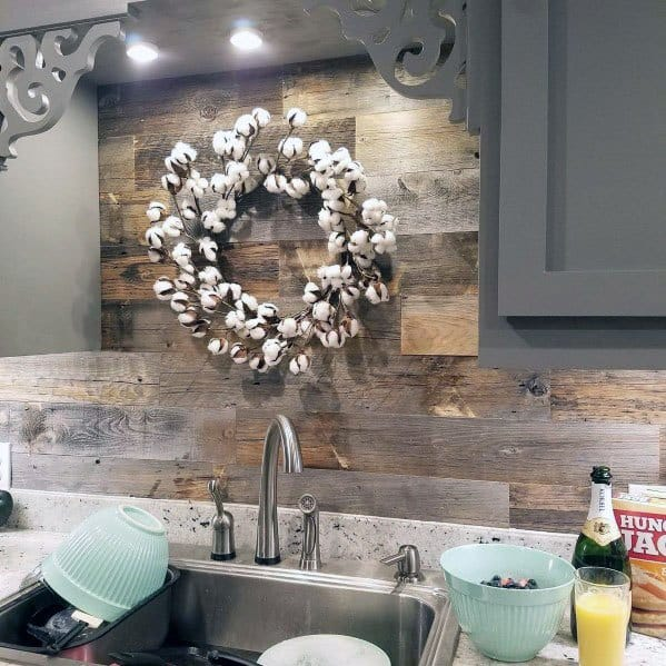 Kitchen Ideas For Wood Backsplash