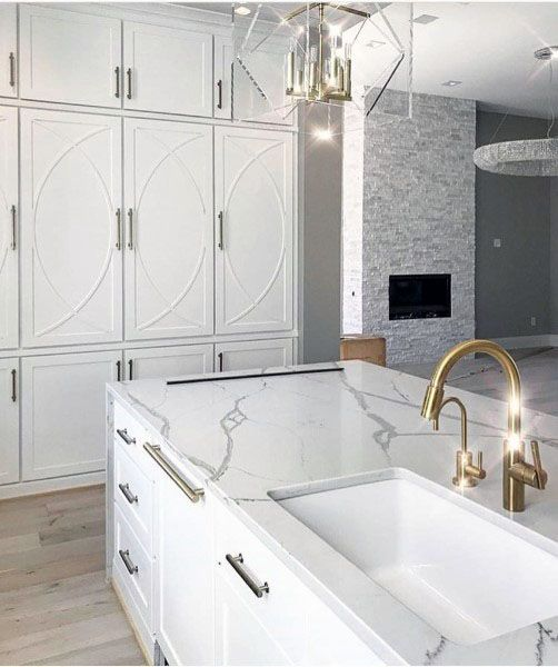 Kitchen Ideas With White Cabinets And Marble Countertops