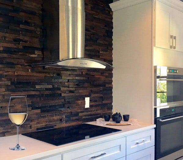 Kitchen Ideas Wood Backsplash