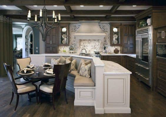 Kitchen Island Breakfast Nook