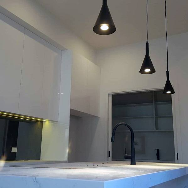 Kitchen Island Mini Modern Black Led Hanging Ceiling Pendant Lighting Home Ideas
