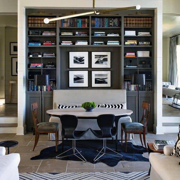 Kitchen Nook Interior Ideas Built In Bookcase