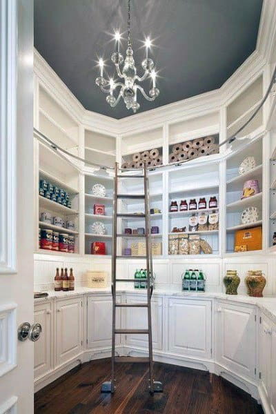 Top 70 Best Kitchen Pantry Ideas - Organized Storage Designs