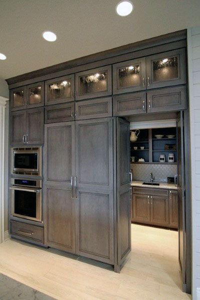 Kitchen Pantry Door Cool Interior Ideas Hidden