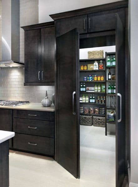 Kitchen Pantry False Cabinets Hidden Door Ideas