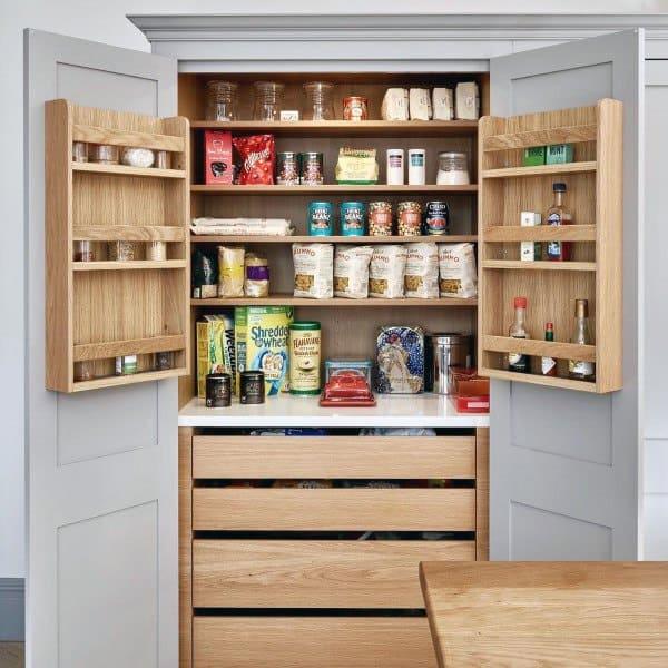 10 Kitchen Pantry Design Ideas: Top 70 Best Kitchen Pantry Ideas