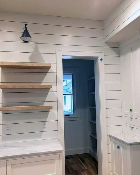 Kitchen Pantry Luxury Shiplap Wall