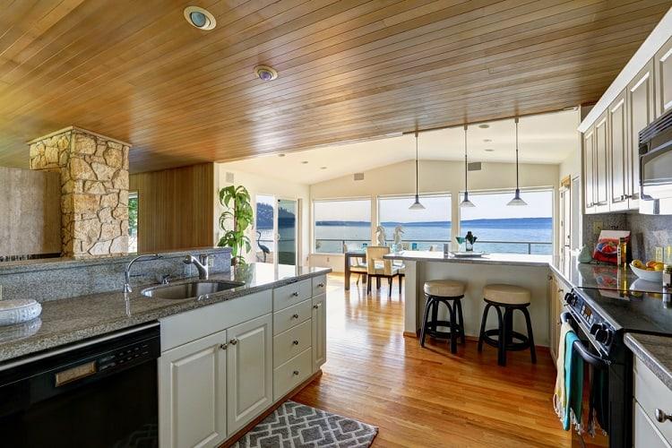 Kitchen Roompaneled Beadboard Ceiling