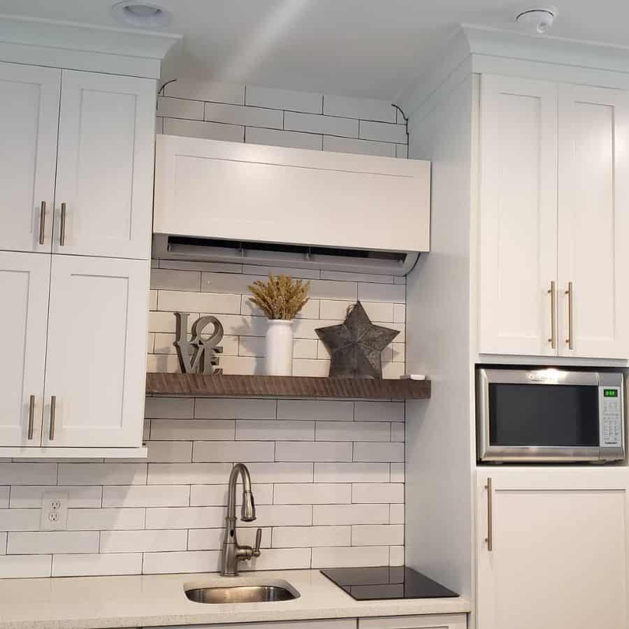 kitchen shelf display kitchen wall decor ideas ehb_solutions