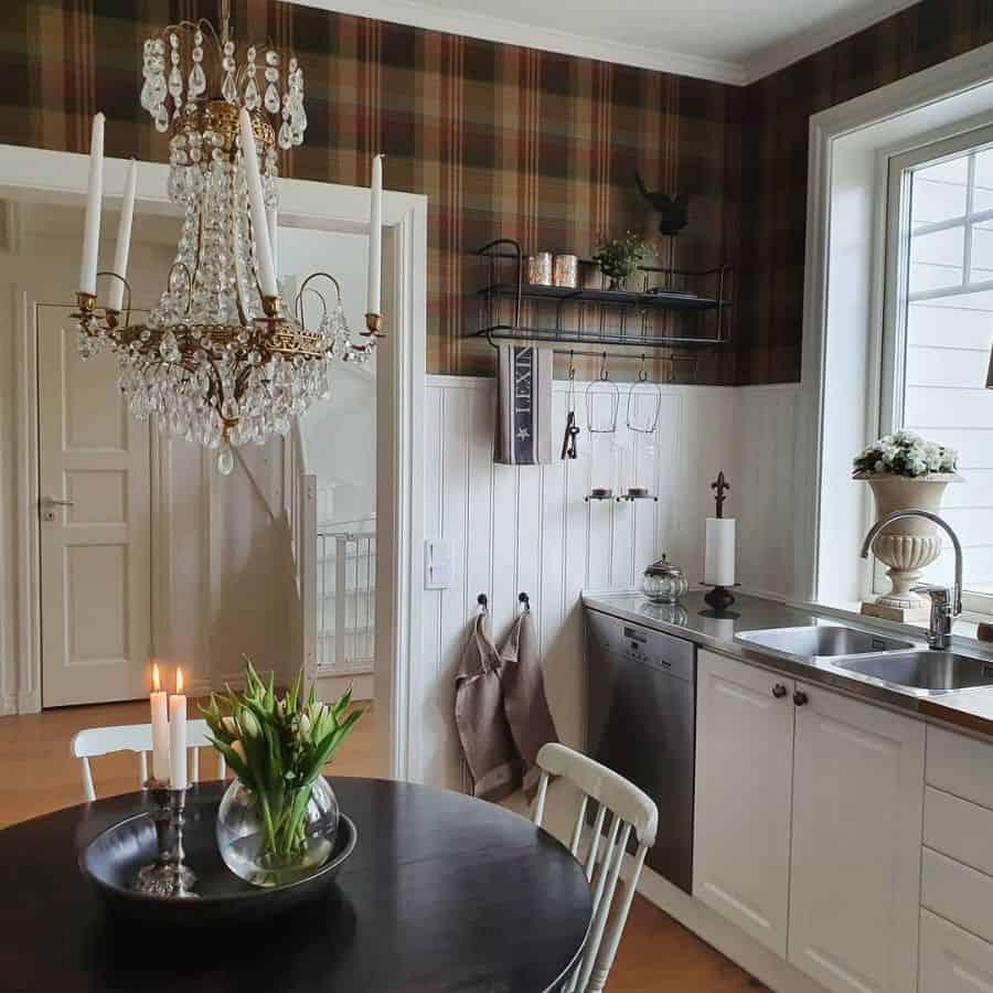 kitchen shelf display kitchen wall decor ideas villa_wannerstam