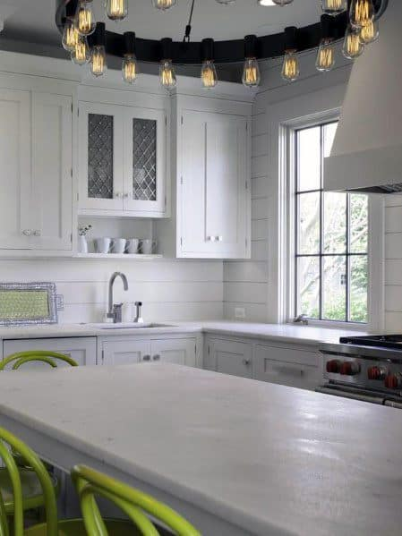Kitchen Shiplap Wall Design Ideas