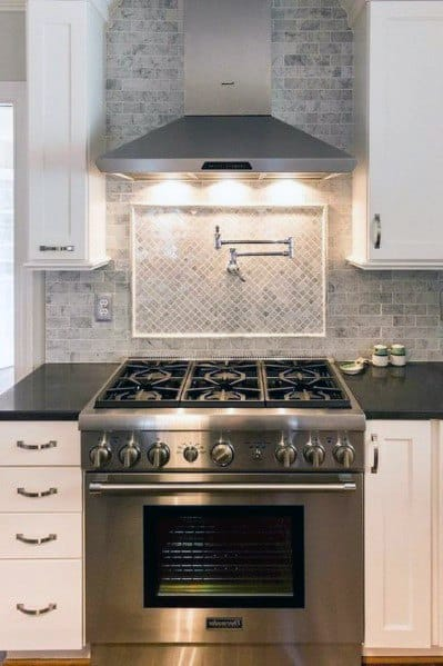 Kitchen Stone Backsplash Design
