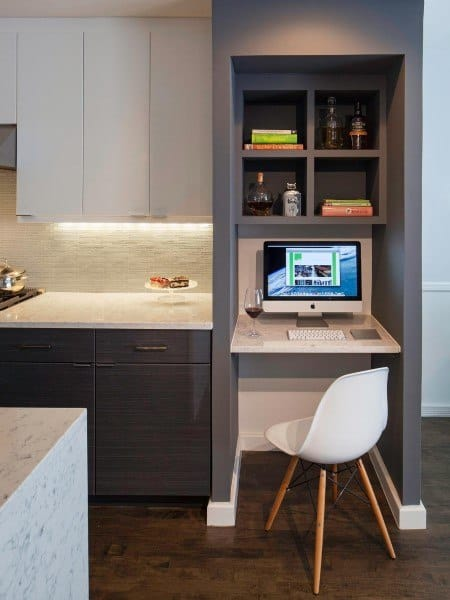Top 50 Best Built In Desk Ideas Cool Work Space Designs