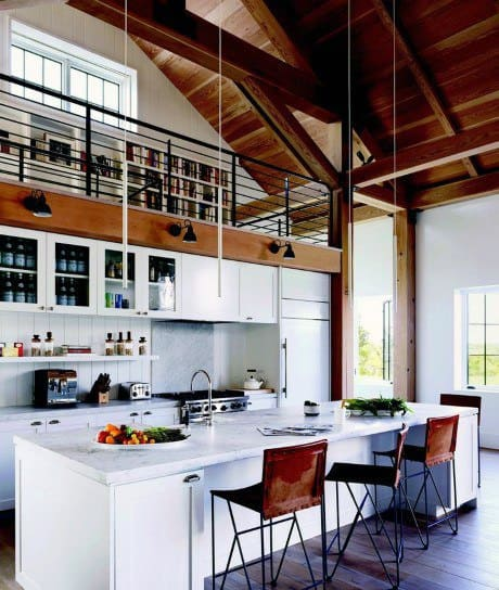 Kitchen With Library Loft Ideas