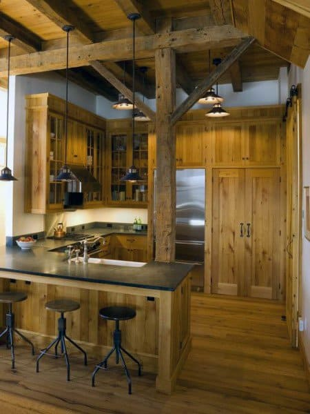Kitchen With Rustic Design