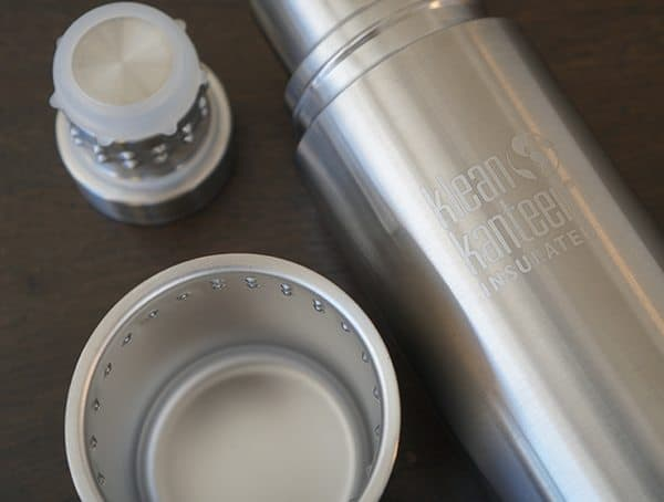 Klean Kanteen Bottle Insulated Tkpro With Cup And Cap Removed From Top