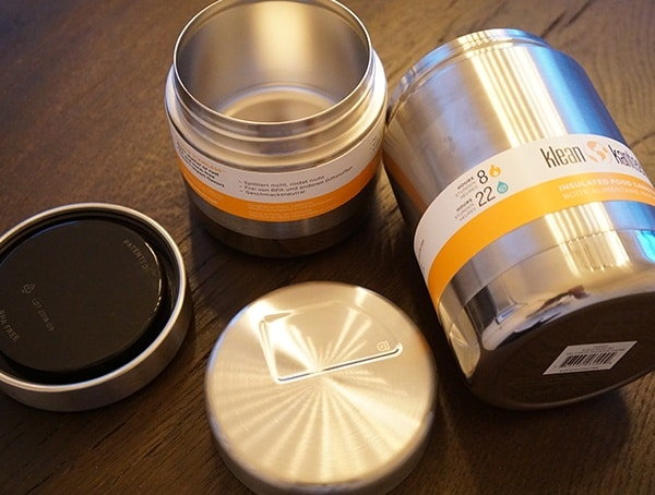 Klean Kanteen Insulated Food Canisters With Lids Removed