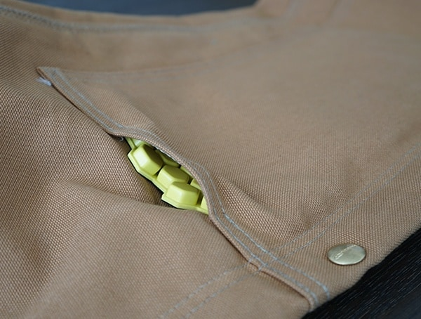 Knee Pad Insert Inside Of Pocket Carhartt Quilt Lined Zip To Thigh Bib Overalls