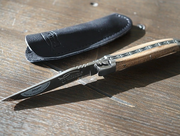 Knife Laguiole Honore Durand Ld1kw With Leather Shealth