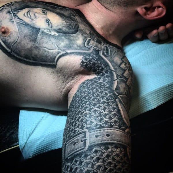 Knight Armor Tattoo For Men