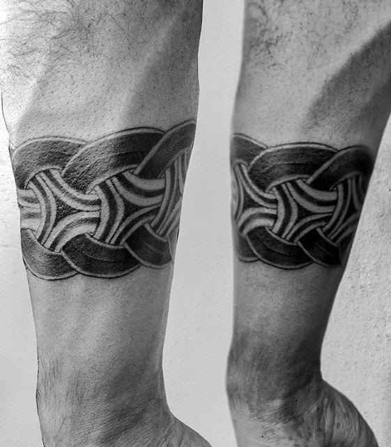 Knots Mens Forearm Band Tattoo