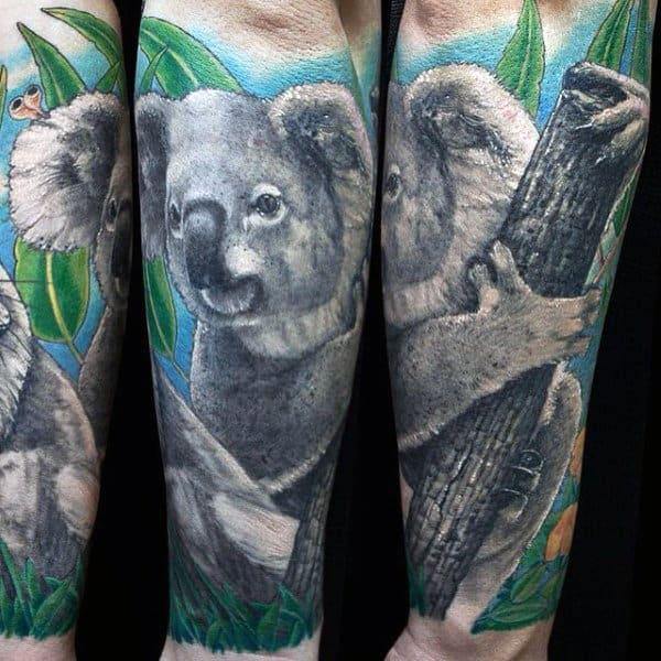 30 Koala Tattoo Designs For Men - Wild Animal Ink Ideas