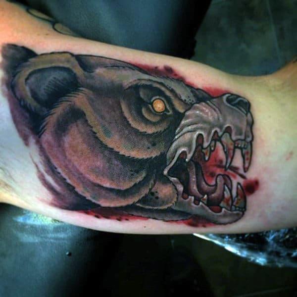Kodiak Bear Tattoos For Men On Bicep