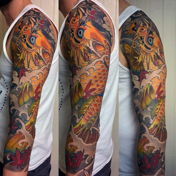 50 Koi Dragon Tattoo Designs For Men